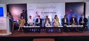 DR. MAHESH SHARMA, MEMBER OF PARLIAMENT INAUGURATED THE SHOW IHE 2021 GETS UNDERWAY AT INDIA EXPO CENTRE & MART|